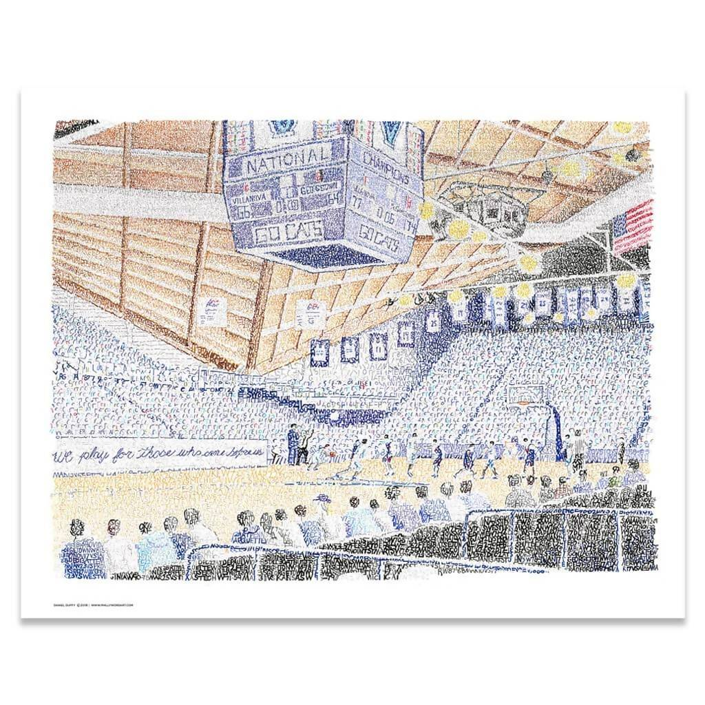 "Villanova - The Pavilion Word Art Print - 16""x20"""