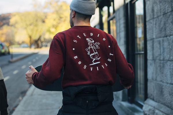 Studio for Bon Vivant Crewneck - Burgundy