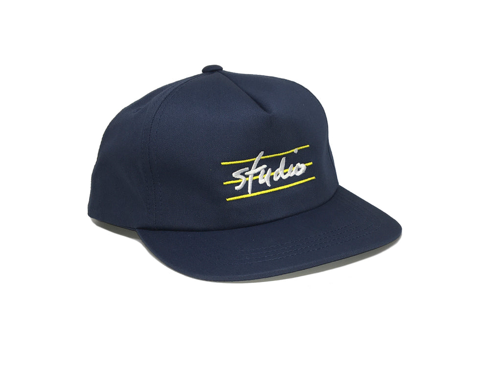 Bars - Unstructured Snapback - Navy