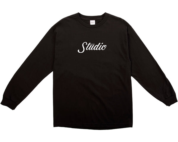 SOLD OUT - Big Script Longsleeve - Black