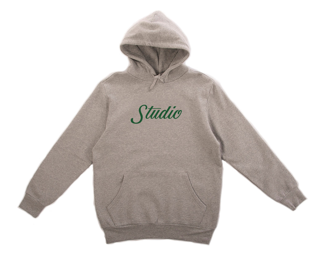 SOLD OUT - Big Script - Hoodie - Heather Grey