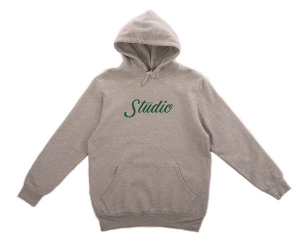 Big Script - Hoodie - Heather Grey