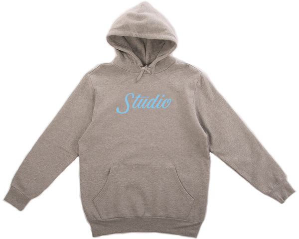SOLD OUT - Big Script Hoodie - Heather Grey