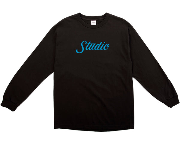 Big Script Long sleeve - Black