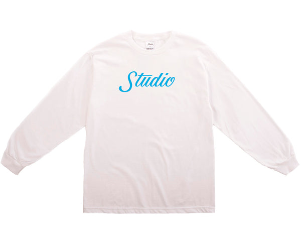 Big Script Long sleeve - White