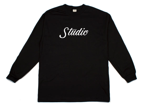 SOLD OUT - Big Script - Longsleeve - Black