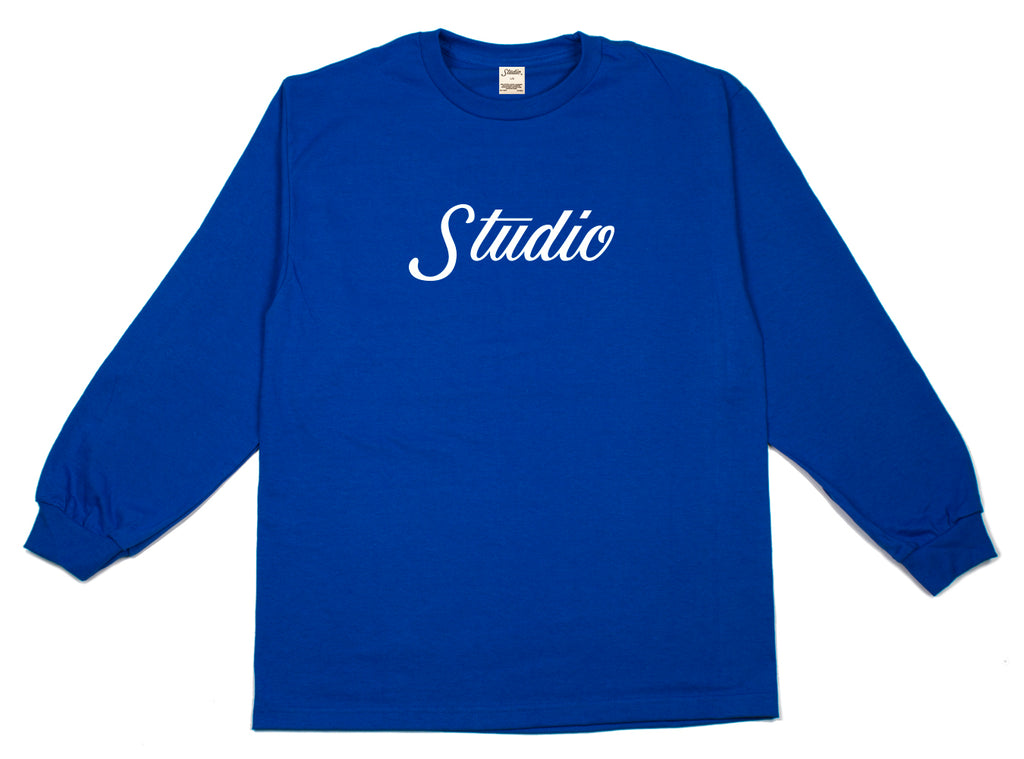 SOLD OUT - Big Script - Longsleeve - Royal