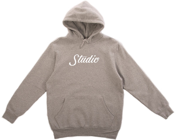 Big Script Pullover - Heather Grey/White
