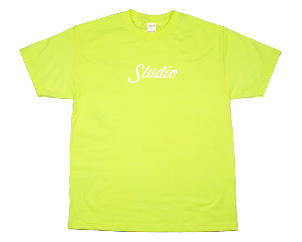 SOLD OUT - Big Script - Tee - Safety Yellow