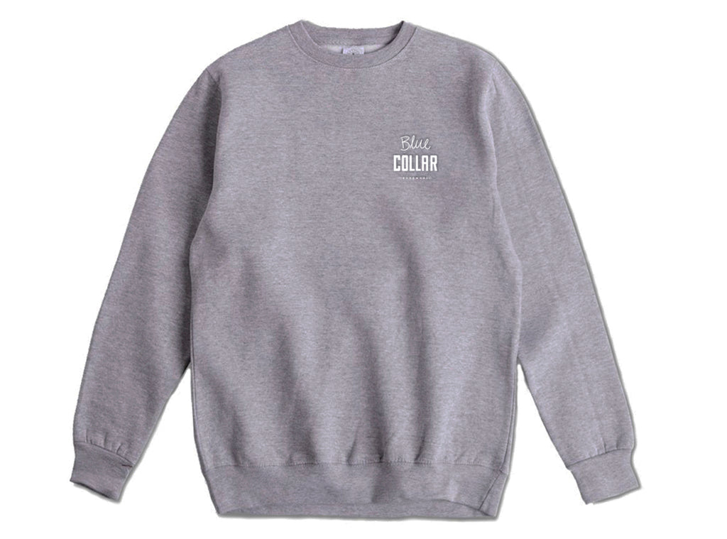 Blue Collar - OG Stack - Crewneck - Heather Grey