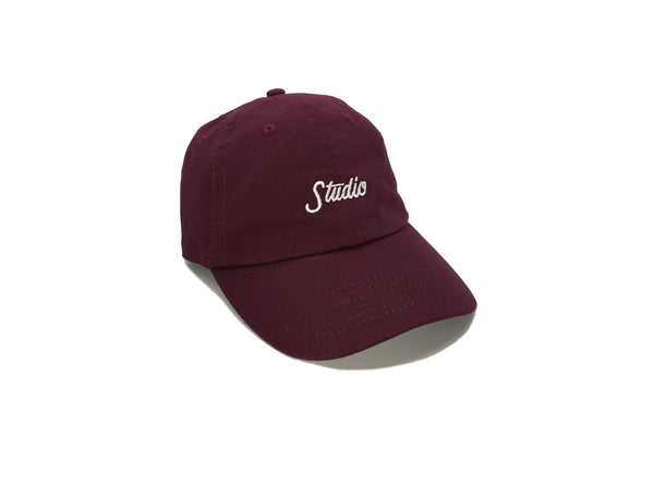 Small Script - 6 Panel - Burgundy - SOLD OUT