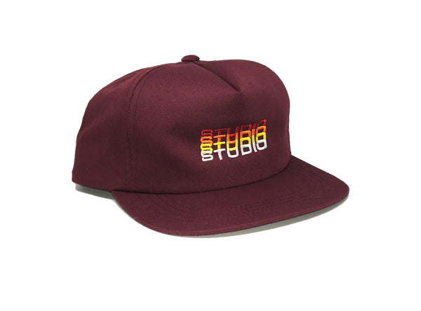 Fade - Unstructured Snapback - Burgundy