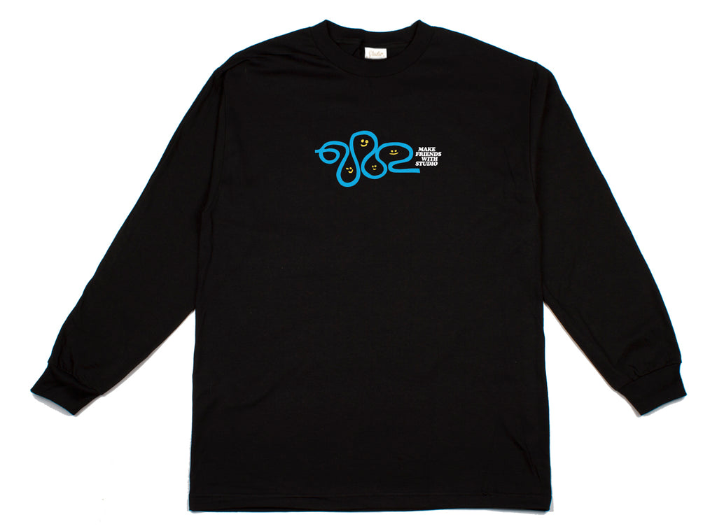 Make Friends - Longsleeve Tee - Black - SOLD OUT