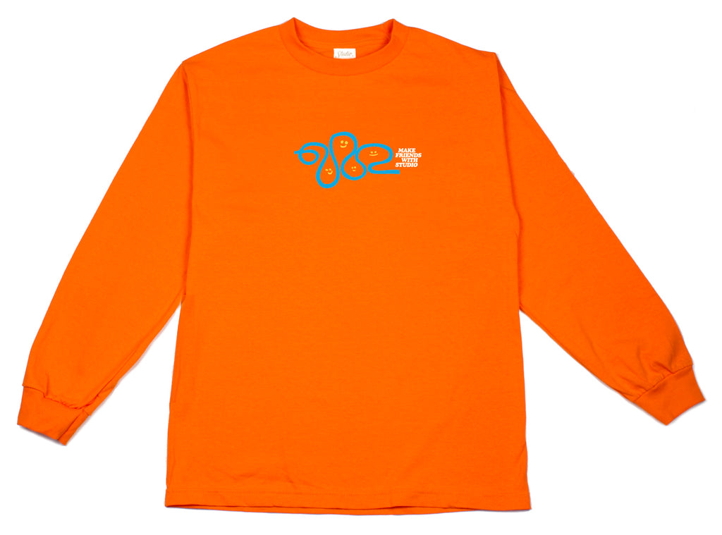Make Friends - Longsleeve Tee - Orange - SOLD OUT