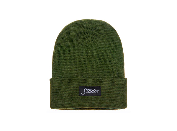 SOLD OUT - Small Script - Beanie - Olive