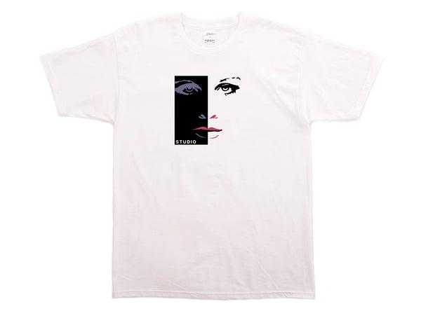 SOLD OUT - Silouette Face - Tee - White