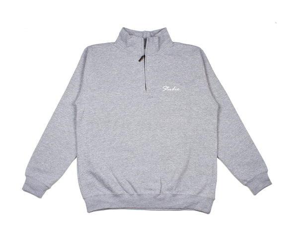 SOLD OUT - Relax - Quarter Zip Sweatshirt - Heather Grey