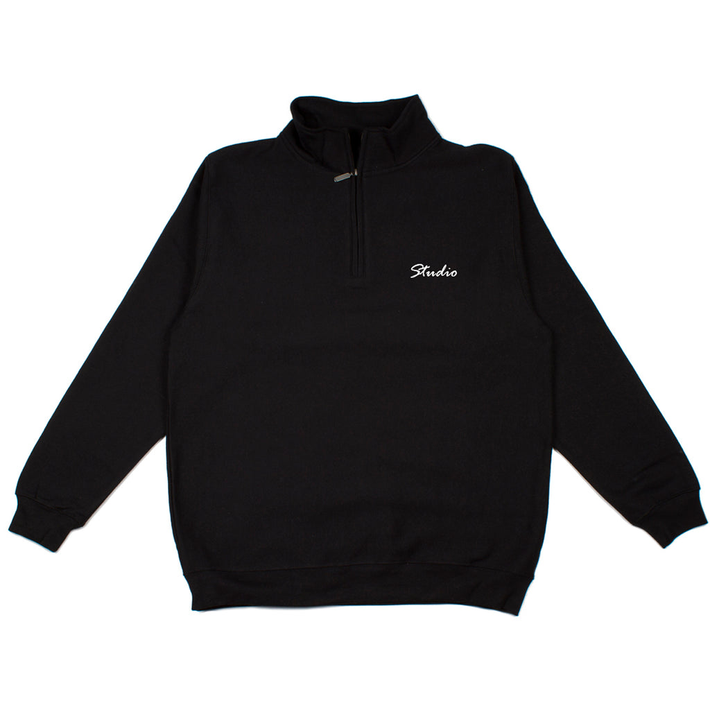 SOLD OUT - Relax - Quarter Zip Sweatshirt - Black