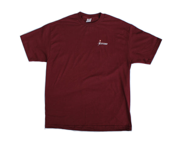 SOLD OUT - Rose Tee - Burgundy
