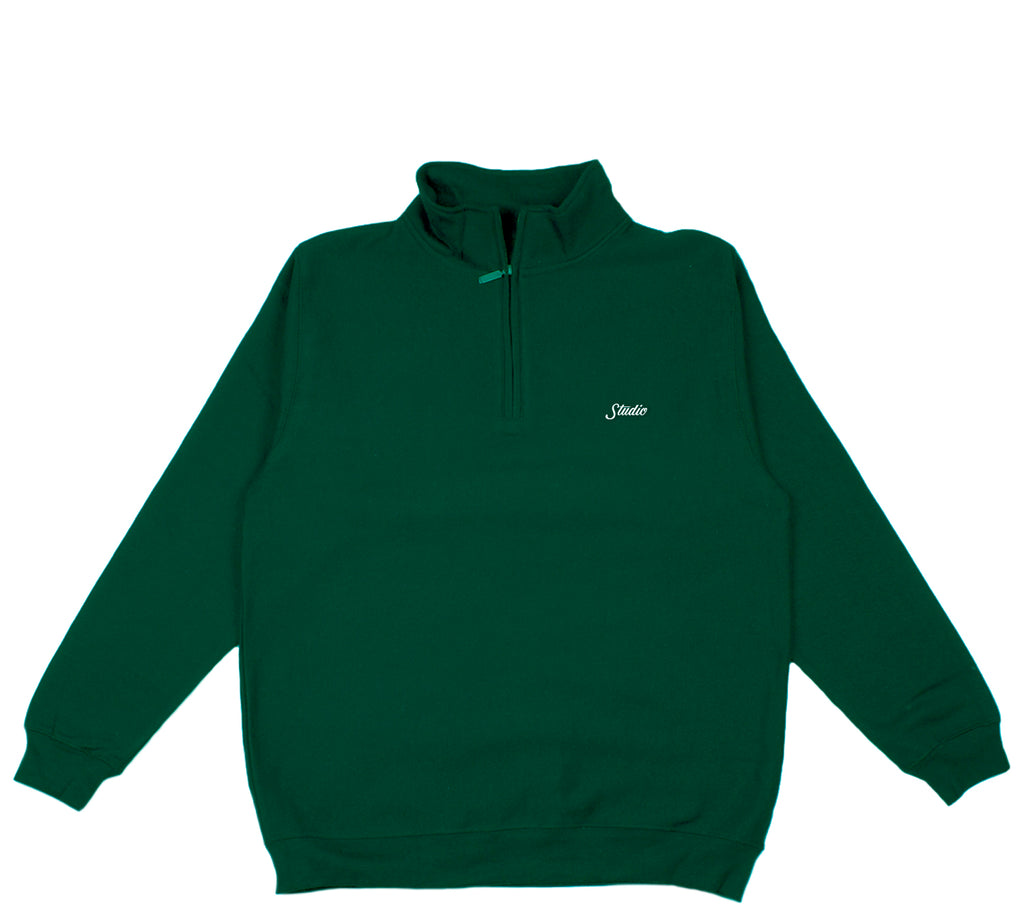 Small Script - 1/4 Zip - Forest - SOLD OUT