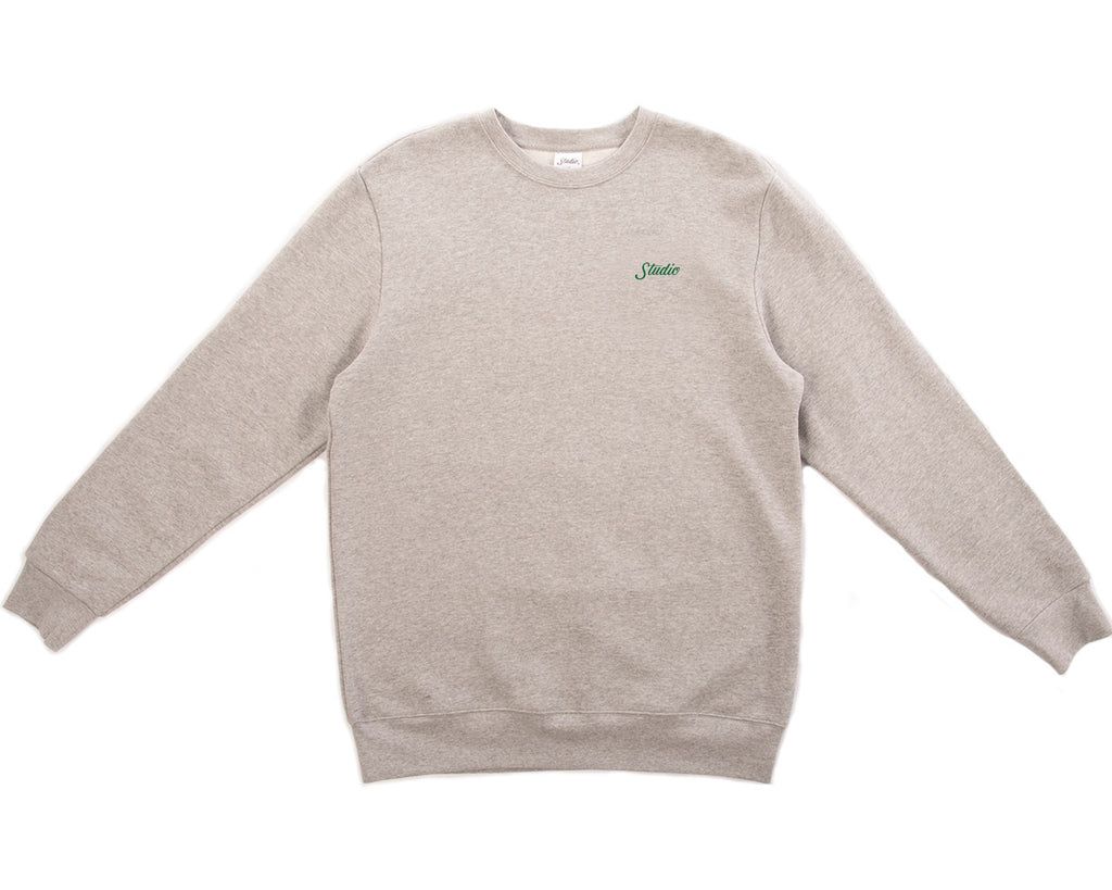 SOLD OUT - Small Script - Crewneck - Heather Grey