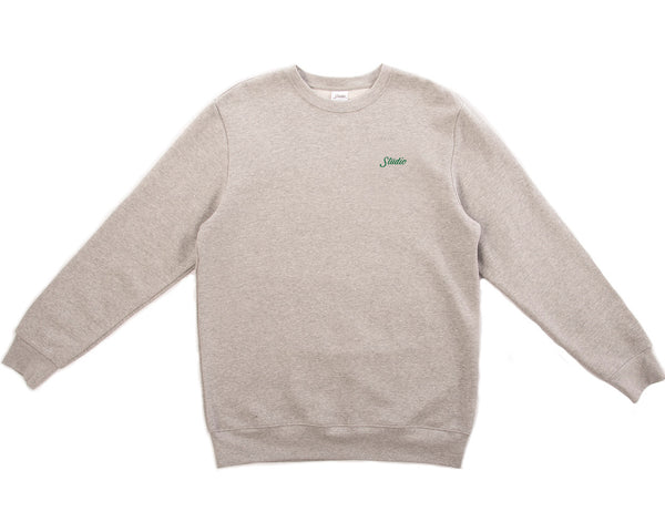 Small Script - Crewneck - Heather Grey