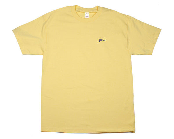 SOLD OUT - Small Script - Tee - Butter Yellow