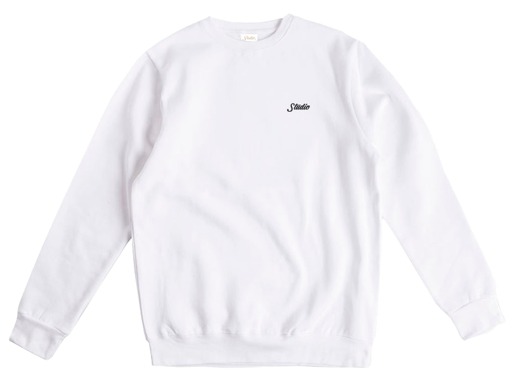 Small Script - Crewneck - White - SOLD OUT