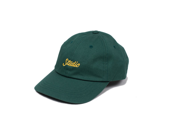 SOLD OUT - Small Script - Dad Hat - Forest Green w/Gold