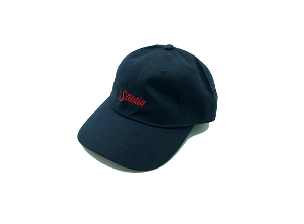 Small Script - Dad Hat - Navy