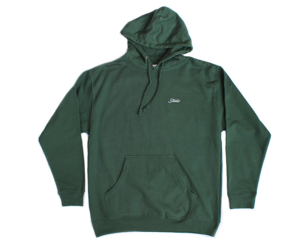SOLD OUT - Small Script Hoodie - Alpine Green