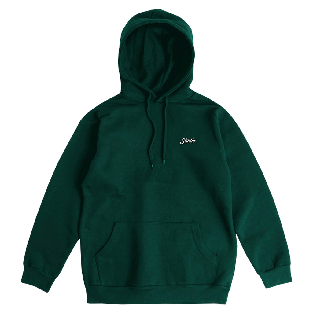 Small Script - Hoodie - Forest