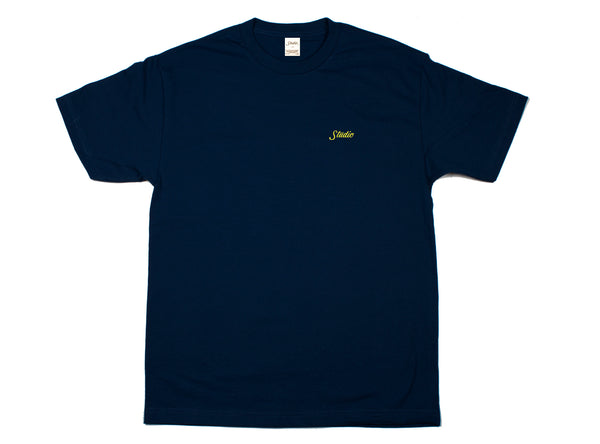 Small Script - Tee - Navy - SOLD OUT