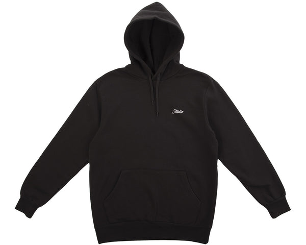 Small Script Pullover Hoodie - Black