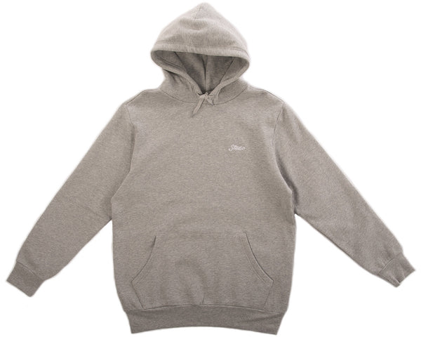 Small Script Pullover Hoodie - Heather Grey