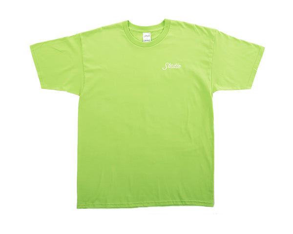Small Script Tee - Lime