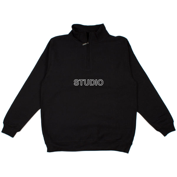 SOLD OUT - Sport Block - 1/4 Zip - Black