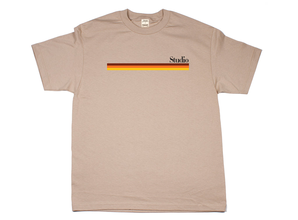 SOLD OUT - Mellow Stripes Tee - Sand