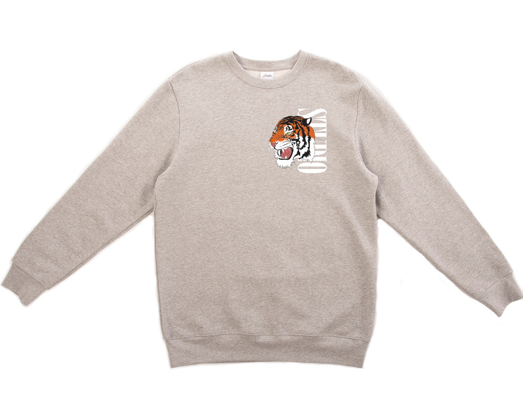 SOLD OUT - Tiger - Crewneck - Heather Grey