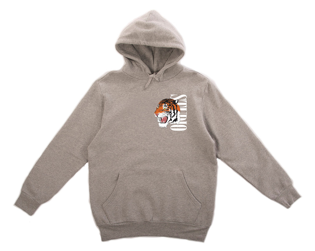 Tiger - Hoodie - Heather Grey