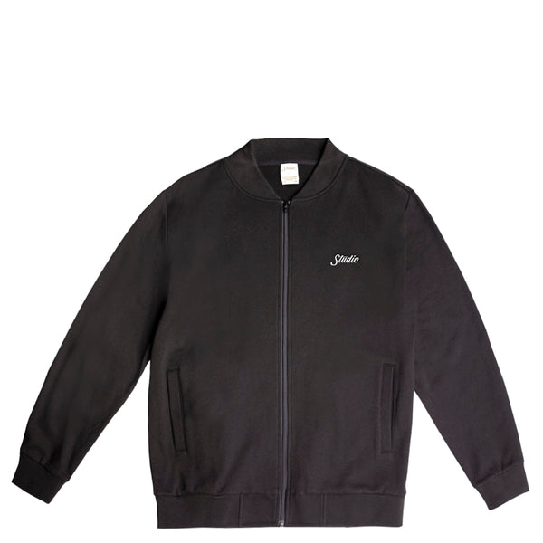 Fleece Track Jacket - Black