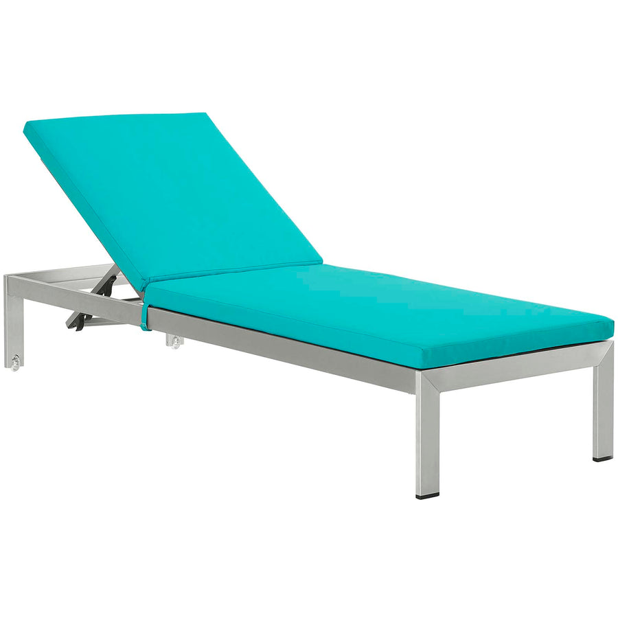 Shore Chaise with Cushions Outdoor Patio Aluminum Set of 4