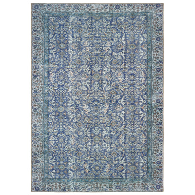 "Sofia 85811 Blue Indoor Area Rug Rectangle 1'9""X2'8"""