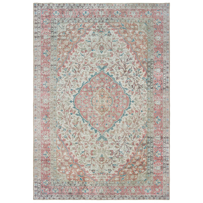 "Sofia 85812 Ivory/ Pink Indoor Area Rug Rectangle 1'9""X2'8"""
