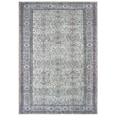 "Sofia 85814 Ivory/ Blue Indoor Area Rug Rectangle 1'9""X2'8"""