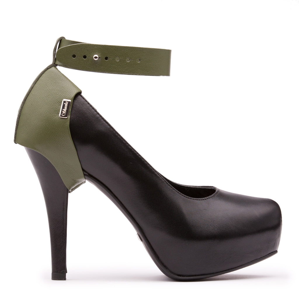 Shanks Heel Caps Army Green