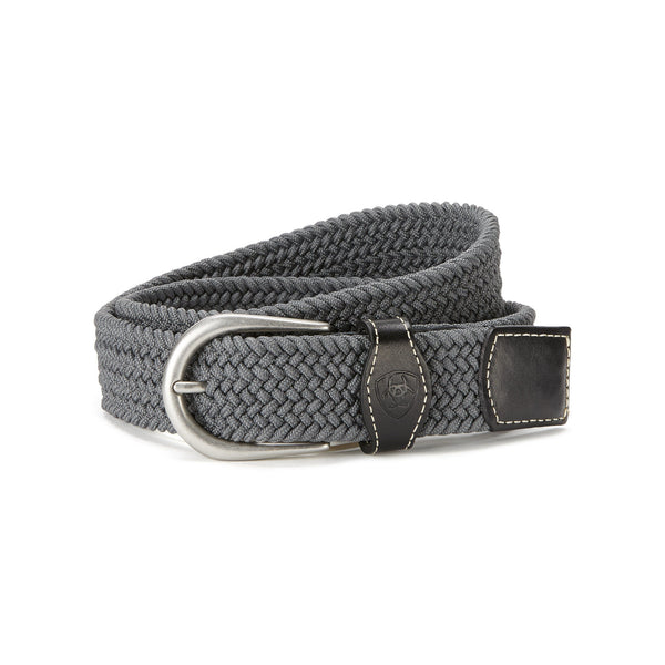 Ariat - One Rail Woven Belt - Grey - Quail Hollow Tack