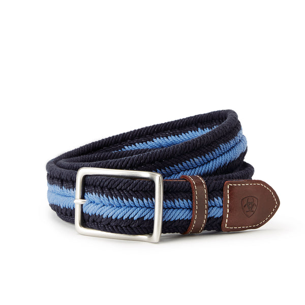Ariat - Three Rail Woven Belt - Blue - Quail Hollow Tack