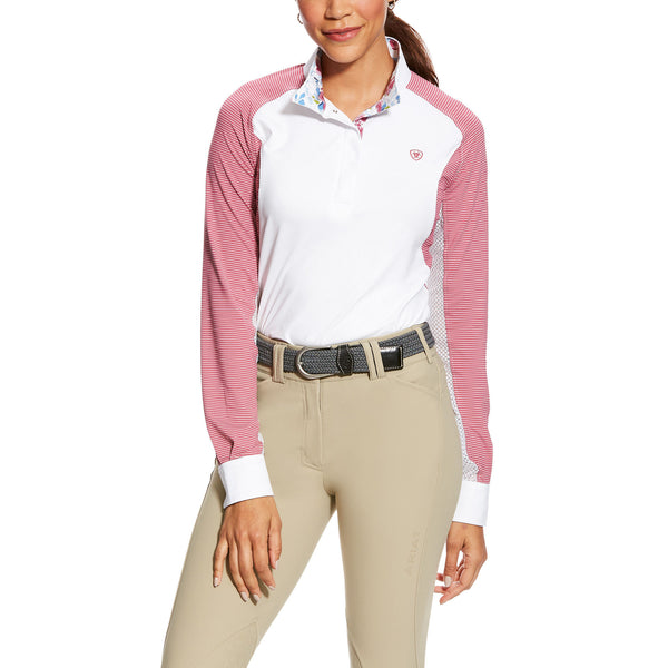 Ariat - Ladies Marquis Show Shirt - Floral Rose - Quail Hollow Tack