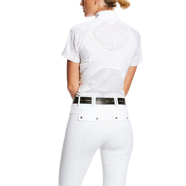 Ariat - Ladies Marquis Vent Show Shirt - White Volte - Quail Hollow Tack